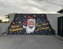 Merry Christmas Mural 2019