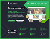 Website for software. myPhoto Recovery. UI UX design.