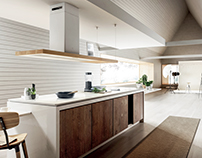Wood Kitchen - Elica 2016 Bio hood