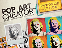 POP ART Creator PRO - PS Action by CANofART