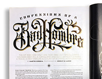 Men's Journal magazine article header typography