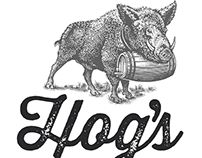 Hog's Apothecary Logomark Illustrated by Steven Noble