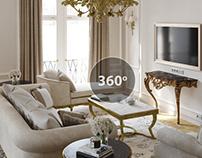 Моделирование и визуализация гостинной 70 кв.м
