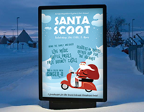 Santa Scoot Event Poster