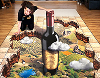 "Trompe l'oeil ""Vinos de Castilla La Mancha"""