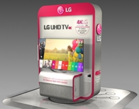 LG - UHD TV Orbital Display for shoppings