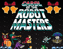Carol of the Robot Masters 8-Bit Style Cover Art