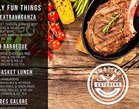 Amazing Caterers Menus Front & Back