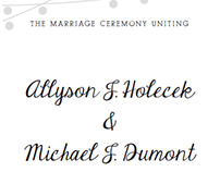 Holecek Wedding Program
