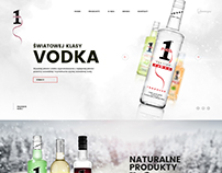 NO1 VODKA Web Design (Vodka, Gin, Wine)