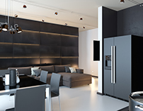 Contemporary interior with high-tech elements