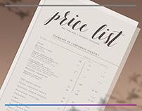 Price list design / Дизайн прайс листа