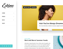 Eskimo - Minimal Personal WordPress Blog & Shop Theme