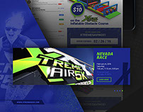 Xtreme Air 5K adaptive web design & print design