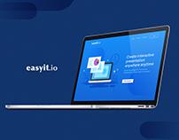 easyIT.io Landing Page & UI Language design
