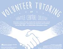 ESL, GED, ABE Volunteer Tutoring Poster