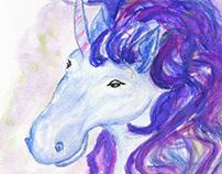 Fantasy unicorn portrait