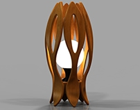 Modular wooden lighting products