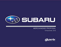 Subaru Merchandise Proposal Print Catalogue