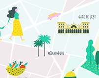 Illustrated map - Paris X