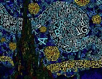 Starry Night Typography
