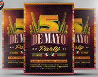 Cinco De Mayo Flyer Template 2017