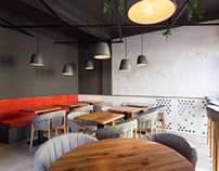 Interior photography: SNOOZZ Cafe in Oradea, Romania