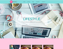 Life style one page web template UI/UX design