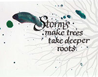 #storm #trees #deep #roots #colour #calligraphy