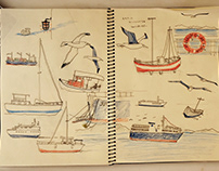 From my sketch book on a ferry in Greece