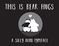 FREE FONT: BEAR HUGS