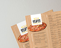 Heaven Pizza Menu