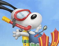Snoopy buzo/diver