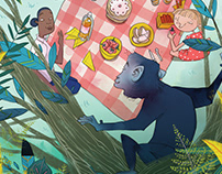 The Blue Monkey Children's Book Illustrations