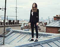 On the roof with Emilie