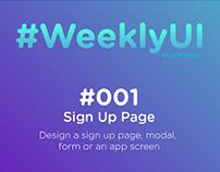 #WeeklyUI #001