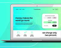 Free PSD - Money Transfer Website Template