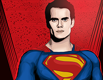 Super Man Vector Art