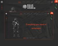 E-commerce. UI concept Gear Head Works