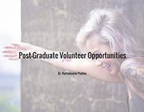 Post-Graduate Volunteer Opportunities