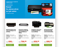 Marketing ecommerce site for HP