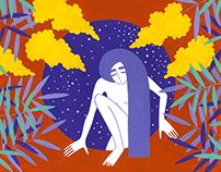 """open skies"" poster illustration"