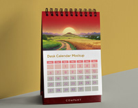 Free Table / Desk Calendar Mockup PSD