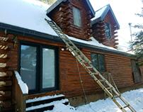Log Home Repair project Arizona