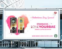 Starbucks Re-branding for Valentine's Day