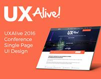 UXAlive 2016 UI Design
