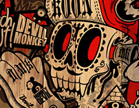 Graffiti artist devil monkey DMK vol.4 tattoo graffiti
