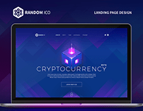Landing Page Design For Cryptocurrency Web Site