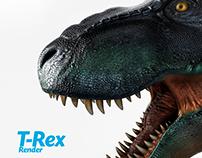 Animación 3D, T-Rex