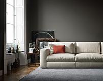 Corner of the sofa